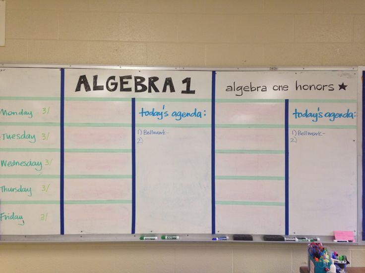 high school classroom weekly homework board - Google Search