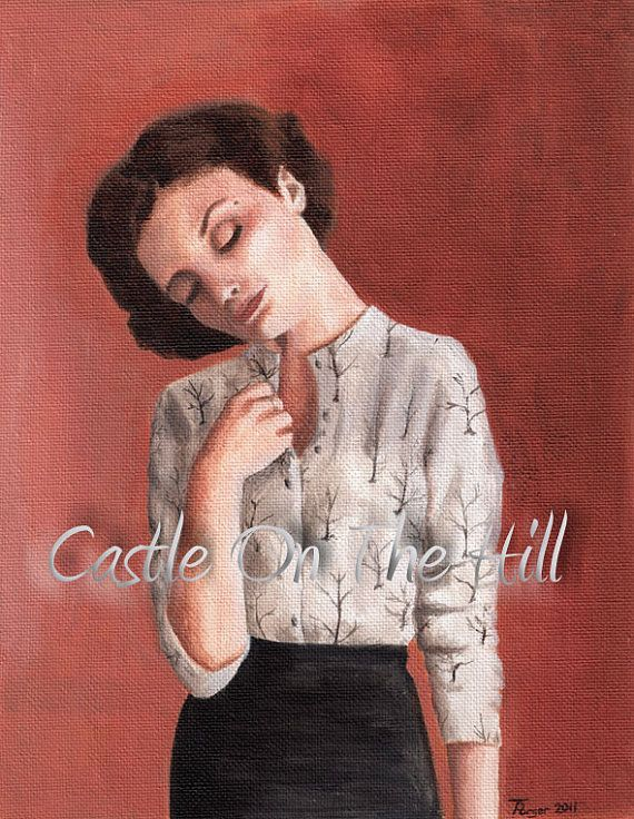 Twin Peaks Audrey Horne  Original 10 x 8 by CastleOnTheHill, $390.00