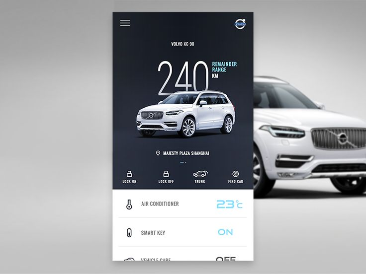 Volvo XC 90 Control Center for Smart Product