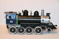 This pinewood derby car was made by a model train hobbyist.