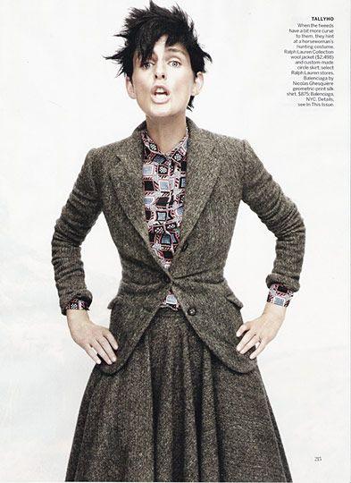 Stella Tennant in tweed.