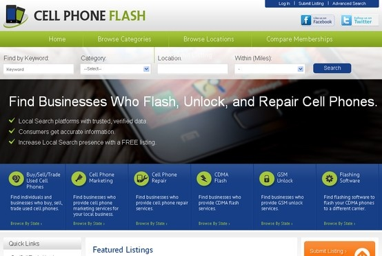 #WebDesign - Here's a look at our client Cell Phone Flash. We maintain high professional standards and offer enhanced customer experience in all of our service packages. 100% customer satisfaction is our guarantee in our web design company