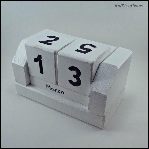 Un calendario de madera que podremos usar año tras año