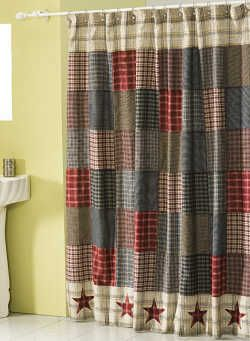 Stars of America Shower Curtain Posted for inspiration - Thinking of doing something similar for closet in sewing room.