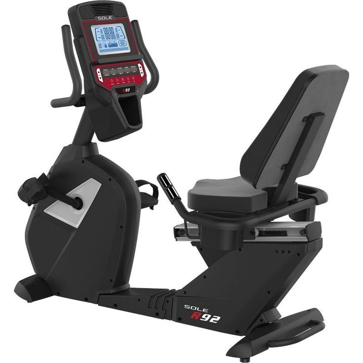 Sole R92 Recumbent Exercise Bike, Silver