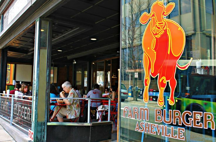 Farm Burger in downtown Asheville comes with locally-sourced ingredients, outdoor dining and Bocce ball!