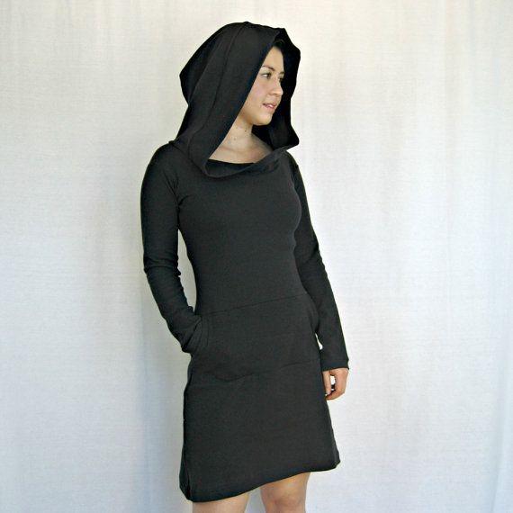20  sur l'incroyable noir robe longue manches par finchdesignsf, $60.00