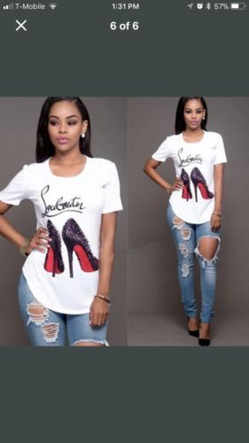 ab7dce3e987 Printed Christian Louboutin T Shirt | Designer Heels & Wedges in ...