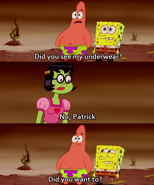 Flirting can happen in many ways. | Community Post: 17 Important Life Lessons We Learned From Patrick Star
