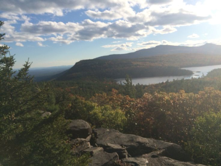Thomas Cole painted this view from Sunset rock of Northlake Southlake back when the Catskill Mountain House stood on the bluff to the east. It's still one of the greatest views in the Catskills.