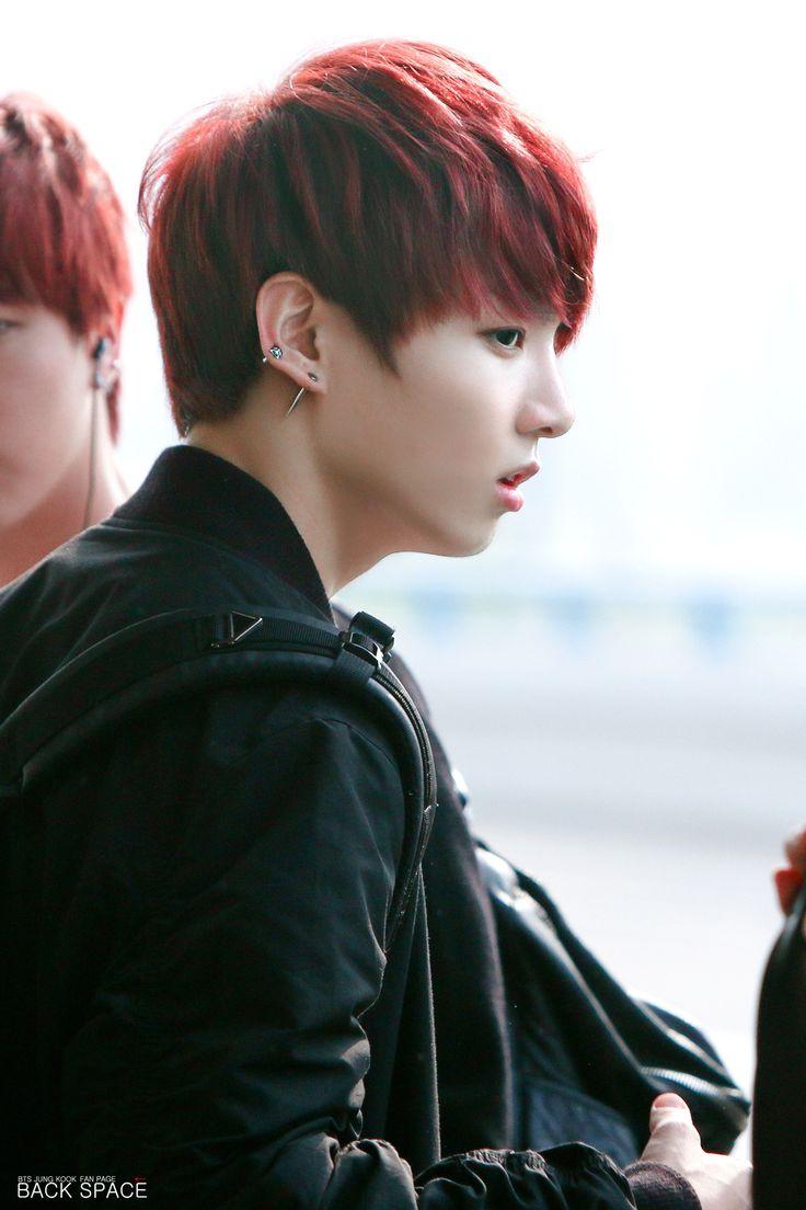 Ugh I Love Jungkooks Red Hair Looks So Good On Him Hair