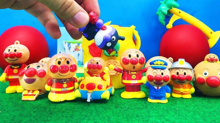 アンパンマン おもちゃアニメ ねんど遊び!大きなびっくらたまご Anpanman Minitoys & Stopmotion A big cla...