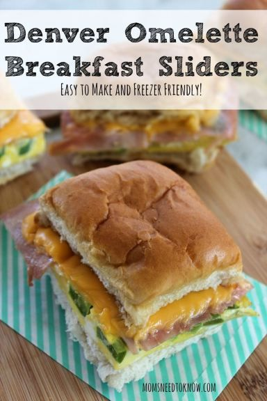 These easy-to-make Denver Omelette Breakfast Sliders are perfect for a brunch or simply just cooking up a bunch of breakfasts for the freezer!