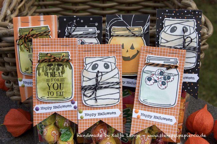 Bloghop Team Stempeldochmal zum Thema Herbst und Halloween - Stampin' Up! - Jar of Haunts - Framelits Everyday Jars / Einweckgläser für alle Fälle - Gruselnacht