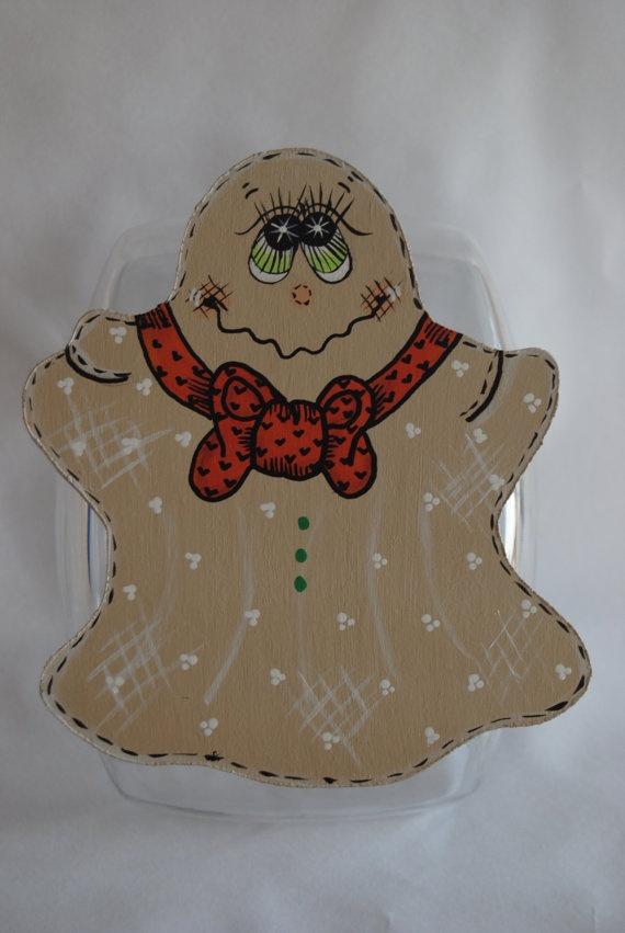 Halloween Ghost Cookie Jar Lid Hand Painted by MTDesignsCrafts, $20.00