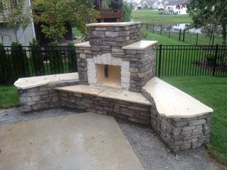 This beautiful DIY outdoor Douglas fireplace design was built by a homeowner using a BackyardFlare.com construction plan. Backyard Flare, LLC - Fireplace Gallery