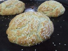 Paleo hamburger buns. Can be used for sandwich buns to. Will try freezing a couple to see if they store well.