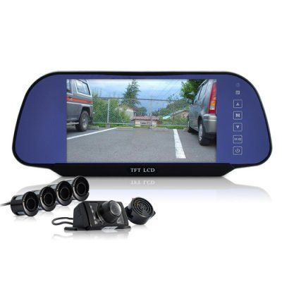 Complete Car Reversing Set – Rearview Camera, 4 Parking Sensors, Rearview Mirror = 88 Euro. http://camere-spion.info/auto/?page_id=30