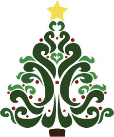 Free Christmas Tree Clipart: