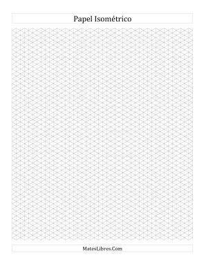 Papel Isométrico de 0.5 cm (Vertical) (Todas)