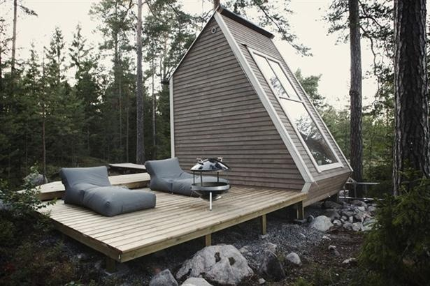 Mini-house. In Finland you can built this house without a building permit.