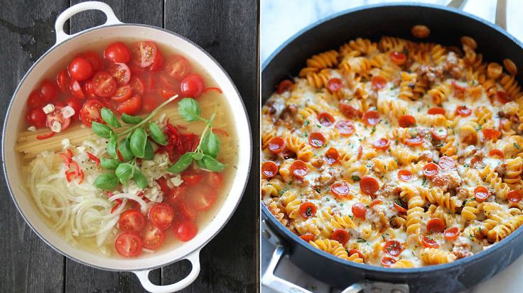 Med «one pot pasta» kan du slenge alt sammen i én og samme gryte og la middagen lage seg så å si selv på under en halvtime.