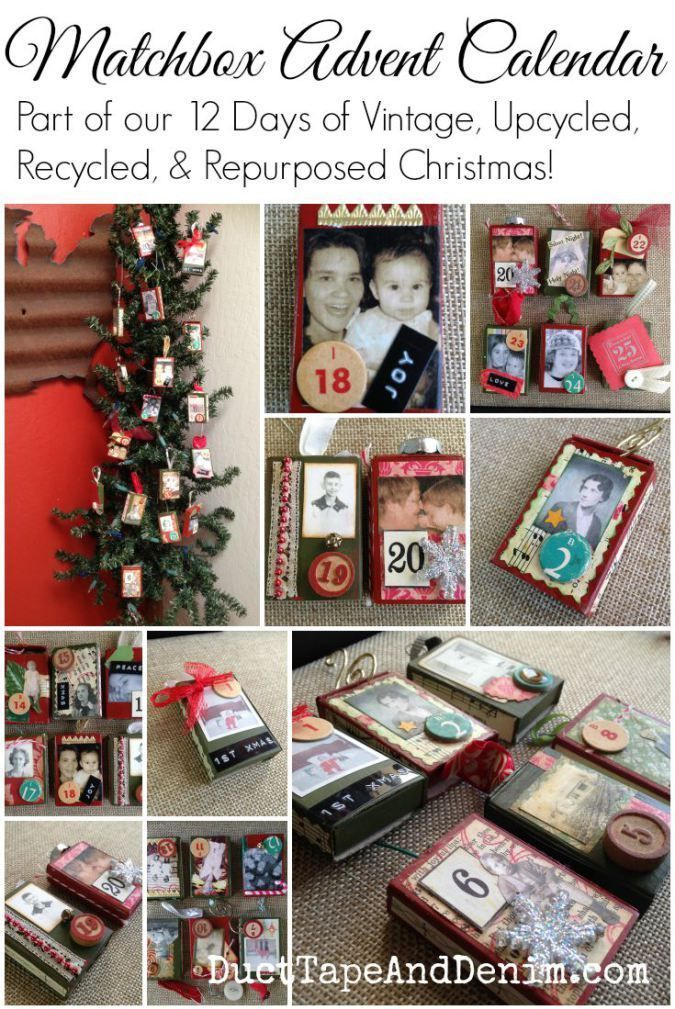 Diy Matchbox Advent Calendar : Diy matchbox advent calendar crafts vintage and repurposed