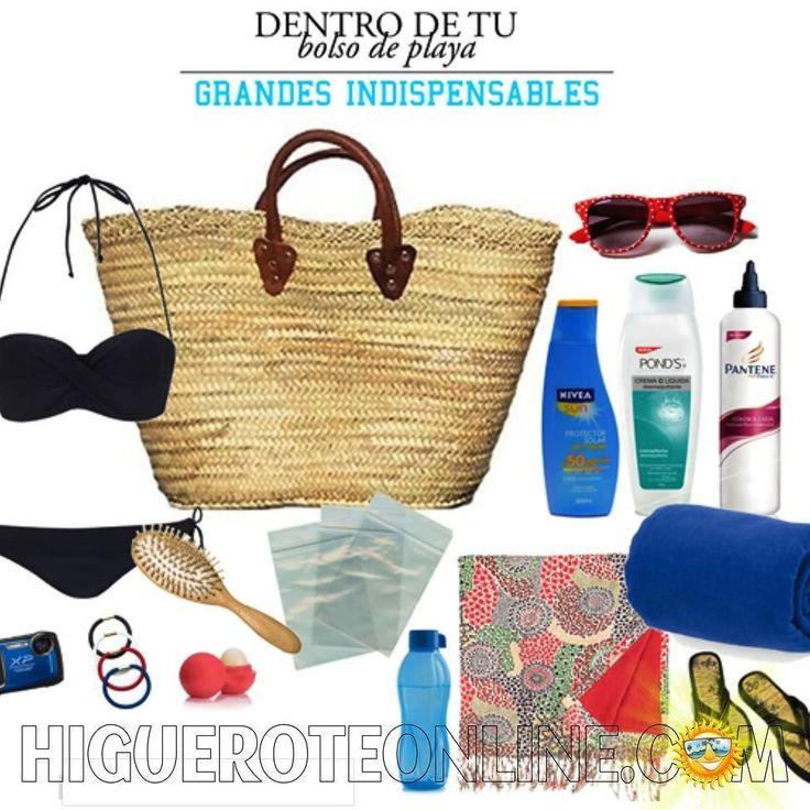 Será cierto que una mujer lleva una lista de cosas cuando va para la playa en su bolso playero..............Las que hemos contado son: 1. #Bloqueador solar 2.- #crema hidratante 3.- #crema para el cabello 4.- #toalla 5.- #cepillo para el cabello 6.- #bolsas plásticas 7.- #bálsamo labial 8.- #ligas para el cabello 9.- #pareo 10.- #bikini 11.- #cámara a prueba de agua 12.- #botella de agua 13.- #lentes 14. #dinero 15.-#sandalias 16.-#chucherías 17.-#celular 18.-#llaves 19.- #libro 20…