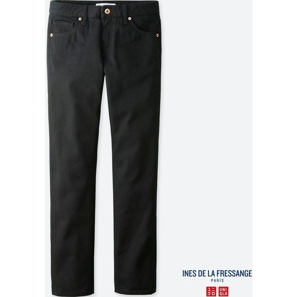 UNIQLO Women's Idlf Slim-fit Ankle-length Jeans ($30) ❤ liked on Polyvore featuring jeans, black, slim jeans, uniqlo jeans, ankle jeans, ankle crop jeans and short pants
