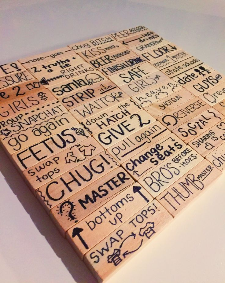 """With New Years Eve only a few days away my friend and I were looking online for fun drinking games to play! We stumbled across """"Drunk Jenga"""" on Pinterest and laughed at all the differen…"""