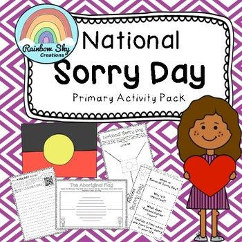 National Sorry Day - Reconciliation Activity Pack. Includes 12 activities designed to encourage younger students to think about the message and values of National Sorry Day and how it relates to their personal world.suitable for Grades 4 - 6.