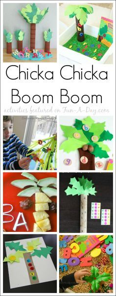 10 must-try Chicka Chicka Boom Boom activities for preschool and kindergarten kids! Fun, meaningful, and educational activities to go along with the book Chicka Chicka Boom Boom! #ChickaChickaBoomBoom #booksandcrafts #literacycenters