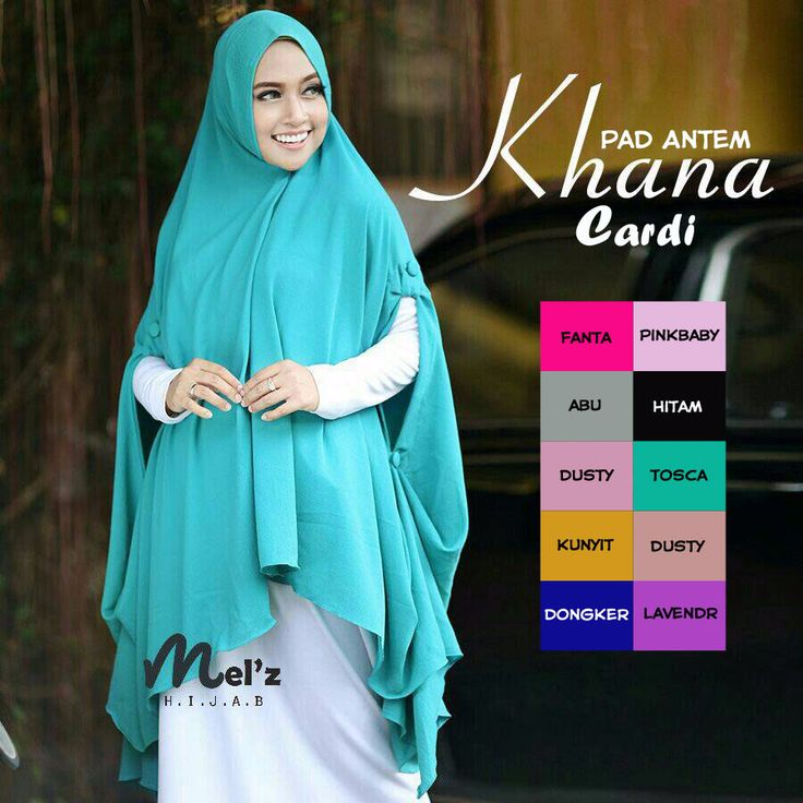 Jilbab Hijab Instan Syari Khana Cardi Pad Antem - http://bit.ly/2jB8zjn