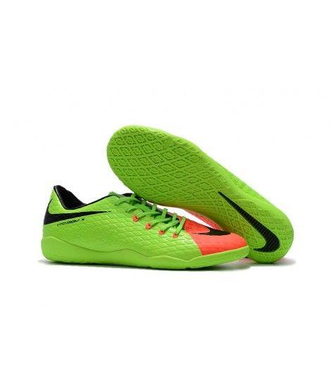 Nike Hypervenom Phelon III IC SÁLOVÁ Zelená Oranžový Černá Leather Kopačky