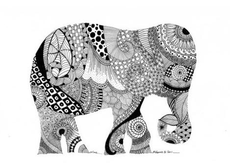 Patterned Elephant ANIMALS Pinterest Inspiration Patterned Animals