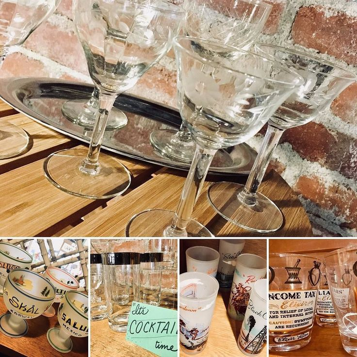 Celebrating this NYE? We have some gorgeous glassware in the shop that is perfect for your toasts & parties! We're here today til 7pm today!! #cocktails #newyears #entertaining #piedmontave #iloveneighbor #eatsleepfindshit #glassware #drinks #party #friends #sale #chrystal #mcm #midcenturymodern #retro #vintage