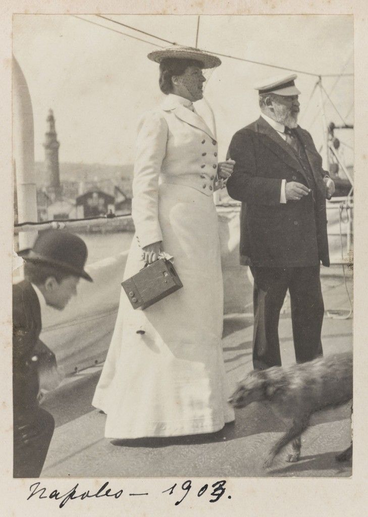 Queen Amelie and King Edward VII in Napoles, 1903