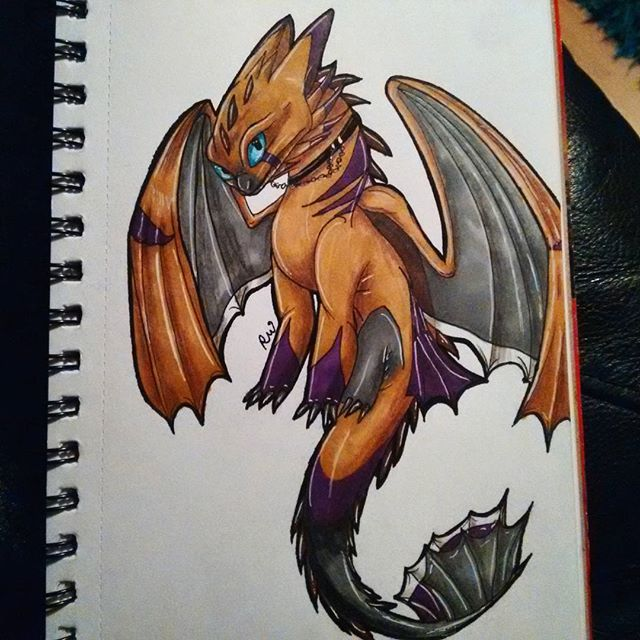 Awesome Nightfury OC Fanart Created By @cosmic_rebellion