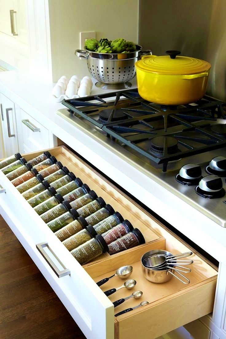 Kitchen Mesmerizing Ideas About Spice Drawer Rack