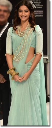 Manish Malhotra Sarees - Fashion Week - Sonam Kapoor