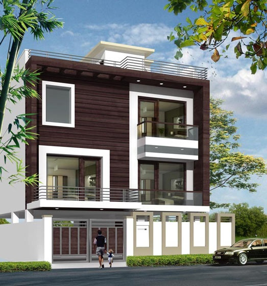 Ultimate house designs with house plans featuring indian for Front view of duplex house in india