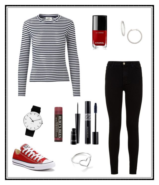 """""""#139"""" by e-elmedal on Polyvore featuring Mads Nørgaard, 7 For All Mankind, Converse, Rosendahl, Nordstrom, Jordan Askill, Chanel, Christian Dior, MAC Cosmetics and Burt's Bees"""