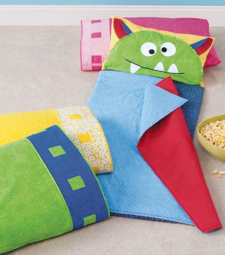 Super cute! Monster Sleep Mat #sewing #kids #DIY @Jo-Ann Fabric and Craft Stores