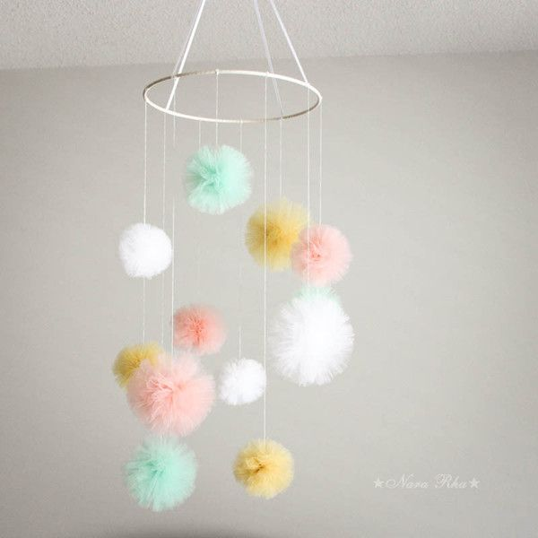 Pom Pom Color : 3 x Mint , 3 x Peach , 3 x Gold , 3 x White