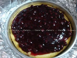Blackcurrant Cheesecake (Baked)