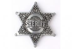 Boucle ceinture étoile shérif silver