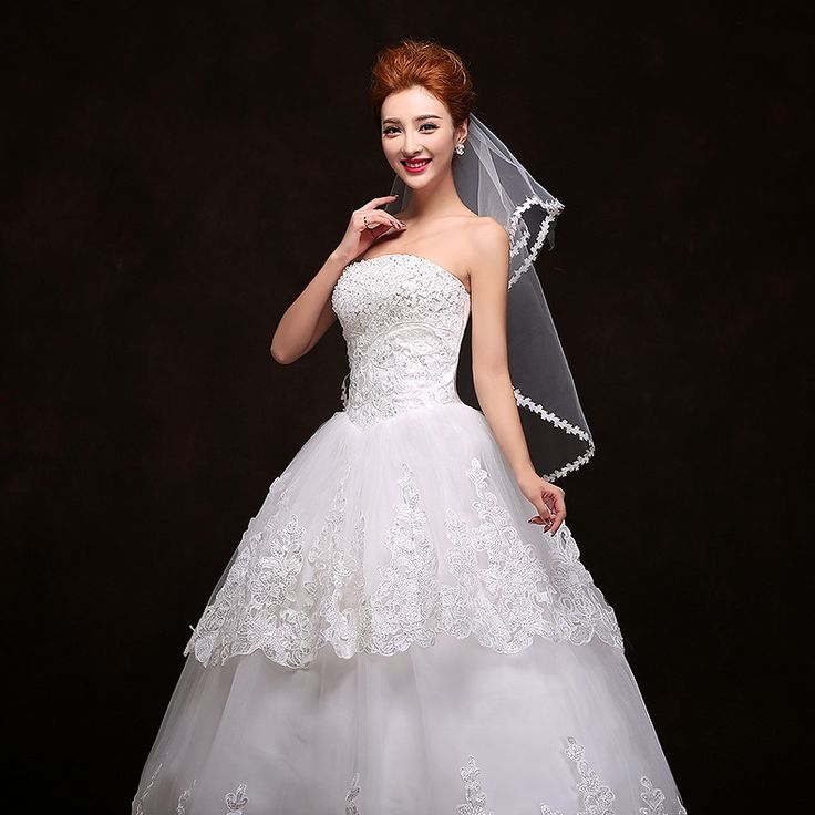 Vendite superiori!! bianco Tulle Appliques Bordo In Pizzo Bordo Appliqued Bridal Veil Veli Da Sposa da Sposa