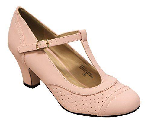 Chase & Chloe Mina-15 women's round toe kitten heel T-str... https://smile.amazon.com/dp/B01J6UDQK0/ref=cm_sw_r_pi_dp_x_djzhybP2FREWS
