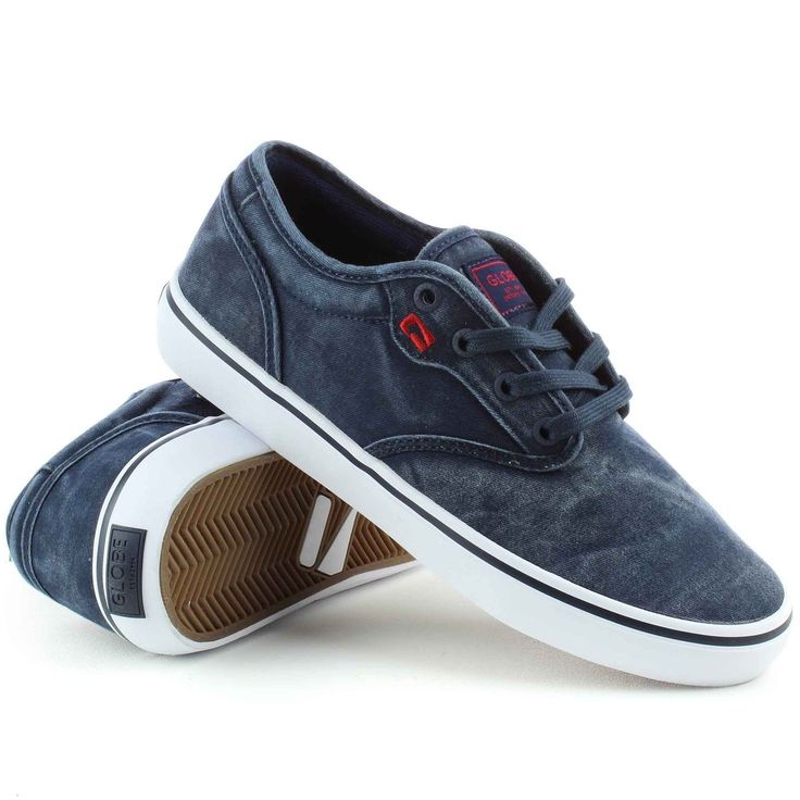 Mens sz 8 9 #trainers motley globe skate shoes navy wash #skateboard #denim gift,  View more on the LINK: http://www.zeppy.io/product/gb/2/162309660943/