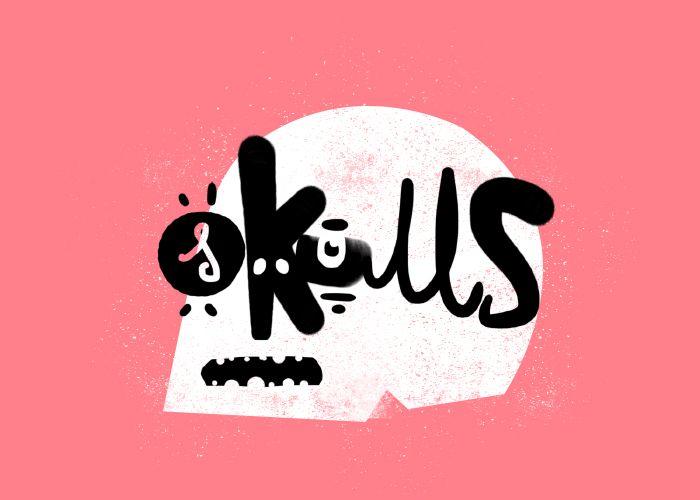 Typographic skull